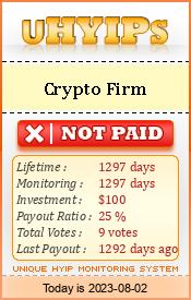 http://uhyips.com/hyip/cryptofirm-11197