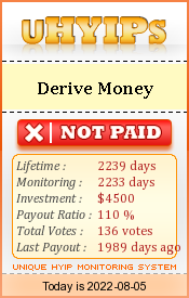 uhyips.com - hyip derive money