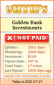 uhyips.com - hyip golden bank investment